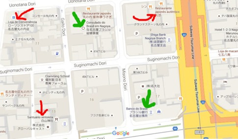 mapa google marunouchi japao